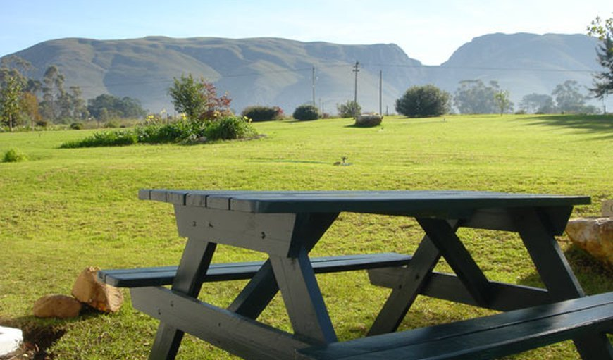 Picnic bench in Stanford, Western Cape, South Africa