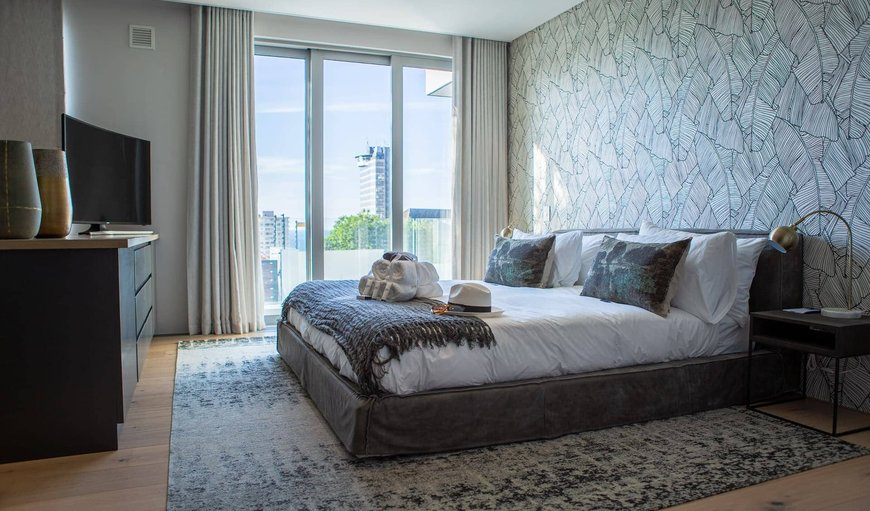 The Main bedroom with King size bed in Sea Point, Cape Town, Western Cape, South Africa