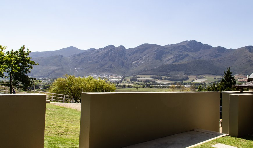 Here you can enjoy magnificent views of the Franschhoek valleys and mountains.