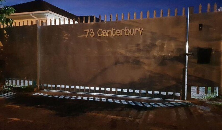 Canterbury Lodge entrance