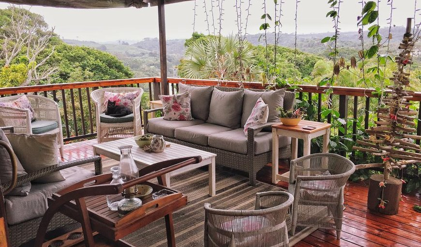The Laughing Gecko Lodge deck and magnificent scenery and views in Southbroom, KwaZulu-Natal, South Africa