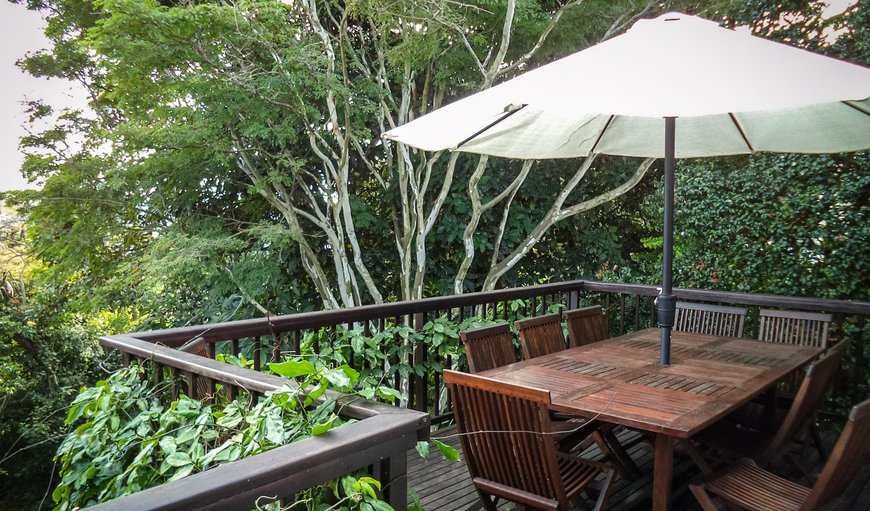 The Laughing Gecko Lodge deck and magnificent scenery and views