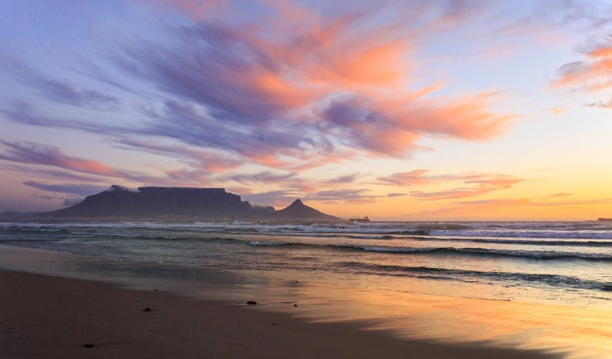 Table mountain in Bloubergstrand, Cape Town, Western Cape , South Africa