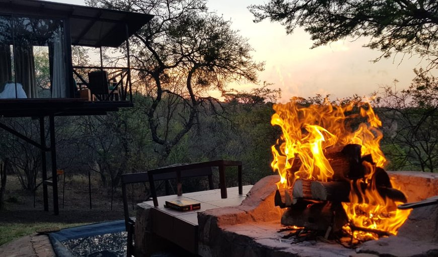 Braai area in Rustenburg, North West Province, South Africa