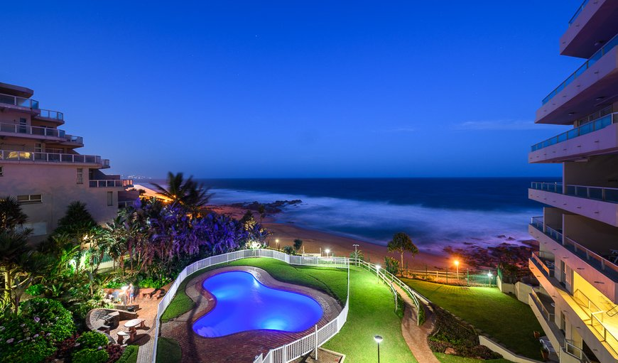 View of the ocean and pool in Ballito, KwaZulu-Natal , South Africa