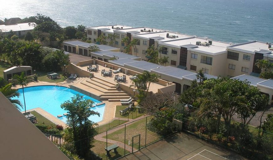 View from balcony over complex in Umdloti Beach, Durban, KwaZulu-Natal, South Africa