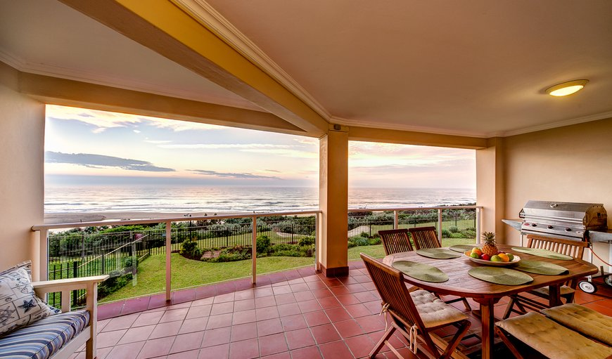 33 La Mer - wide terrace with 180 degree sea-view, outdoor furniture and a gas barbeque. in illovo, Durban, KwaZulu-Natal, South Africa
