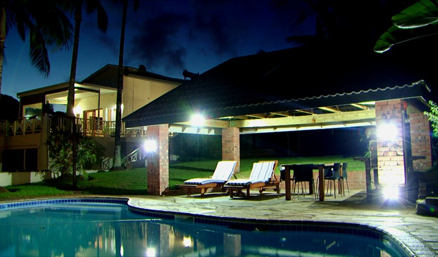 Pool, Lapa and House at night in St Lucia, KwaZulu-Natal , South Africa