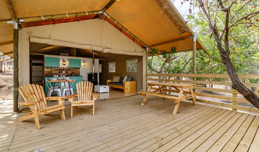 Experience a glamping holiday in one of the 11  Boutique Tents. All tents are fully equipped with a lounge, dining area and kitchen including all the necessary kitchen tools.