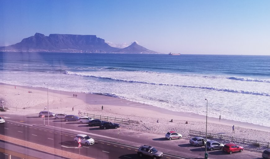 Table mountain and beach view in Bloubergrant, Cape Town, Western Cape, South Africa