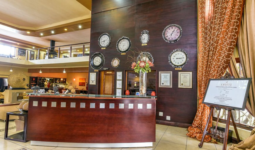 Hotel reception in Grahamstown, Eastern Cape, South Africa