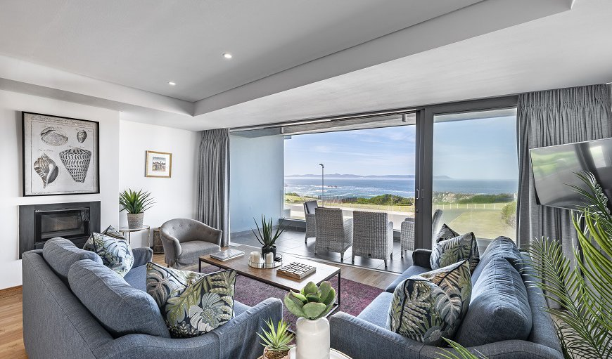 The lounge area is tastefully furnished with comfortable couches in Westcliff - Hermanus, Hermanus, Western Cape, South Africa