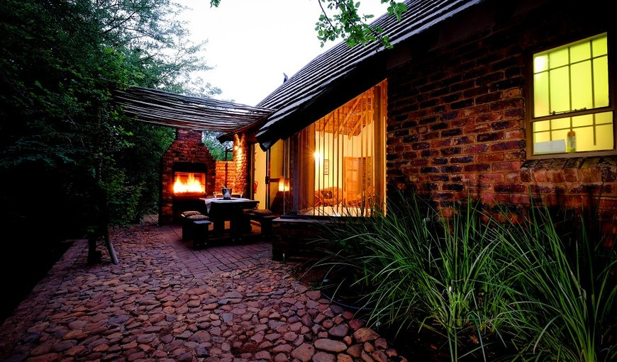 Self Catering Chalet - Entrance / Braai Area  in Hartbeespoort Dam, Hartbeespoort, North West Province, South Africa