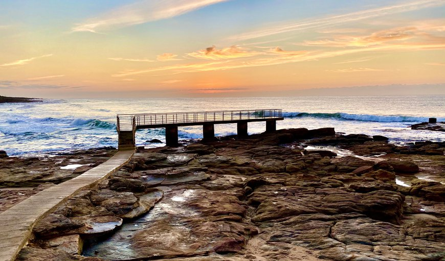 Uvongo Fishing Pier in Margate, KwaZulu-Natal, South Africa