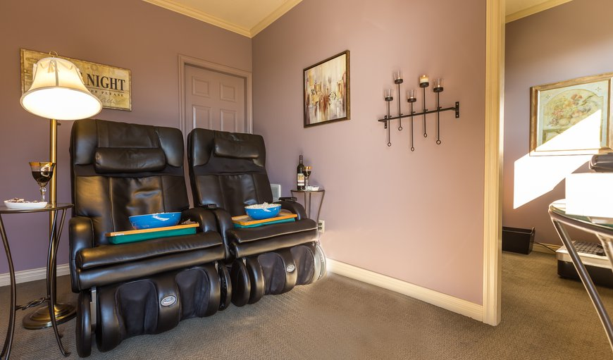Massaging Recliners in Private Media Room
