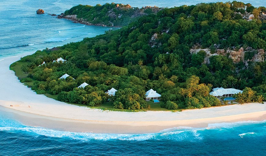 Arerial view of the Island in Cousine Island, Seychelles, Seychelles, Seychelles