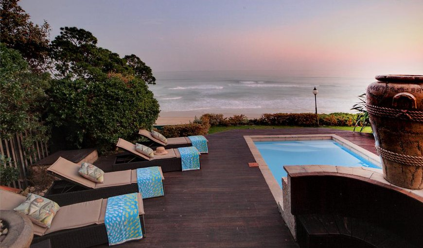 Xanadu Guest villa pool and beach view in Wilderness, Western Cape , South Africa