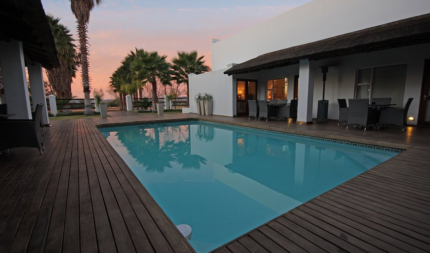 Central courtyard and pool area in Augrabies, Northern Cape, South Africa