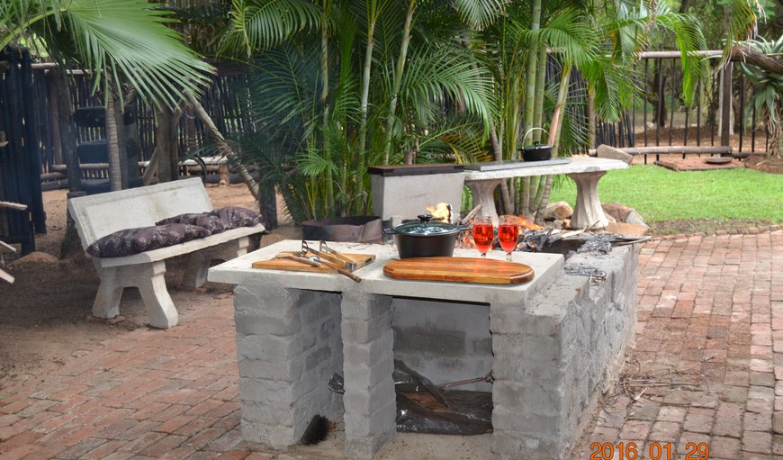 Outdoor braai.. There is also an indoor gas braai for when it rains