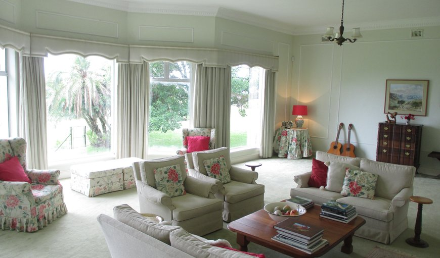 Sitting room in main house for guests.