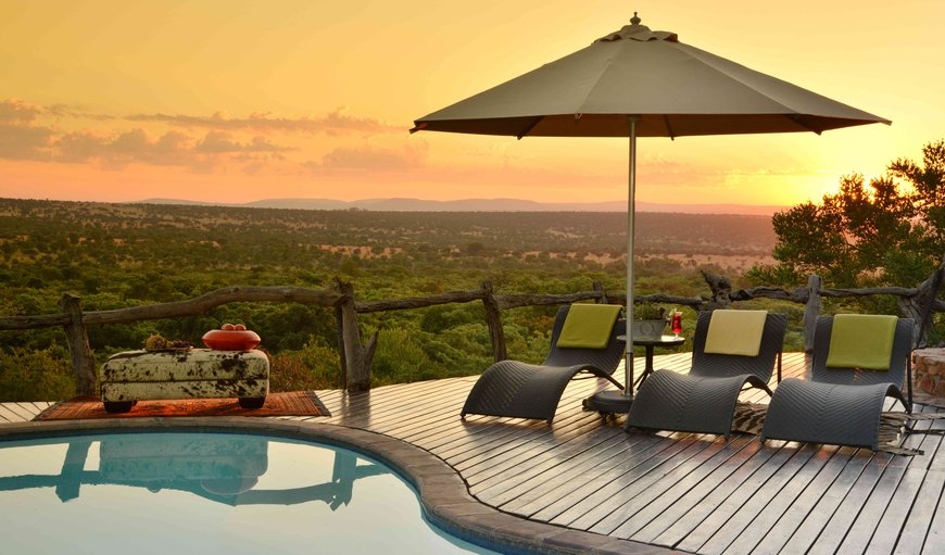 Pool deck- The exquisite five star Wild & Free Game Lodge blends in with the natural surroundings, offering spectacular views over the valley. No luxury or detail has been overlooked, creating a tranquil haven and a truly unique wildlife experience. in Bela Bela (Warmbaths), Limpopo, South Africa