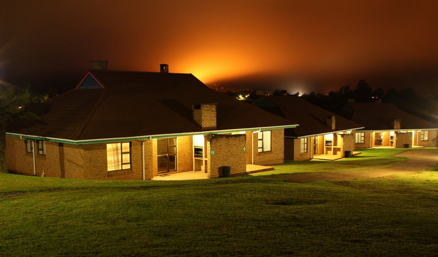 Self Catering Chalets at night